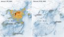 NASA maps show the effect of a quarantine on air pollution